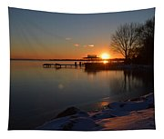 Sunset In Winter Tapestry