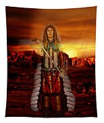 Sunset Indian Chief Tapestry