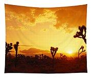 Sunset, Joshua Tree Park, California Tapestry