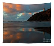 Sunset Light Reflections Tapestry