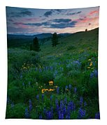 Sunset Meadow Trail Tapestry