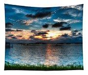 Sunset On Cedar Key Tapestry