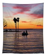 Sunset On Lake Dora At Mount Dora Florida Tapestry