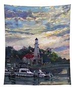 Sunset On Lake Shore Mississauga Tapestry