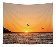 Sunset On Monterey Beach Tapestry
