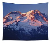 1m4876-sunset On Mt. Rainier  Tapestry