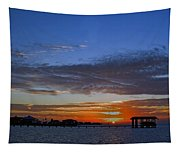 Sunset On The Bay Tapestry