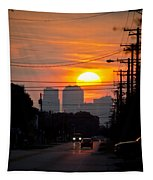 Sunset On The City Tapestry