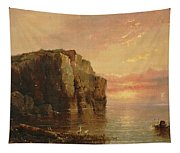 Sunset On The Coast Tapestry