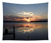 Sunset On The Dock Tapestry