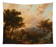 Sunset On The Rhine Tapestry