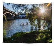 Sunset On The River - Seville  Tapestry