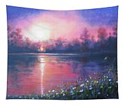Sunset On The River Tapestry