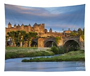 Sunset Over Carcassonne Tapestry