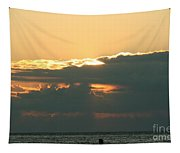 Sunset Over Egg Harbor Wi Tapestry