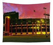 Sunset Over Lambeau Field Tapestry