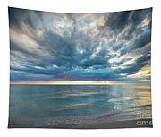 Sunset Over Naples Beach Tapestry