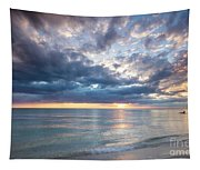 Sunset Over Naples Beach II Tapestry