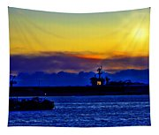 Sunset Over The Carl Vinson Tapestry