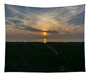 Sunset Over The Dunes  Tapestry
