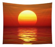 Sunset Over Tranqual Water Tapestry