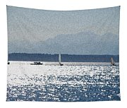 Sunset Sailboats  Tapestry
