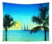 Sunset Sailor Tapestry