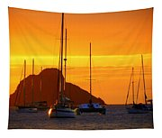Sunset Sails Tapestry