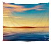 Sunset Seascape Island Tapestry