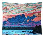 Sunset Snails Tapestry