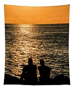 Sunset Together In Key West Tapestry