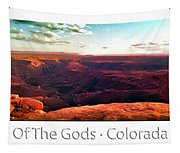 Sunset Tour Valley Of The Gods Utah Pan 09 Text Tapestry