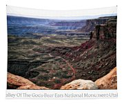 Sunset Tour Valley Of The Gods Utah Text 04 Tapestry