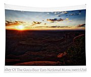 Sunset Valley Of The Gods Utah 11 Text Tapestry