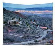 Sunset View From Jerome Arizona Tapestry
