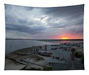 Sunset View From Sandy Neck Light Tapestry