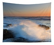 Sunset Wave Explosion Tapestry