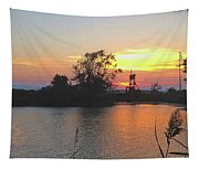Sunset West Of Myers Bagels Vertical Tapestry