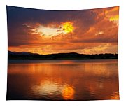 Sunset With A Golden Nugget Tapestry