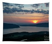 Sunsetting Over Portree, Isle Of Skye, Scotland. Tapestry
