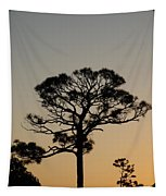 Sunsetting Trees Tapestry