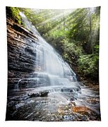 Sunshine At The Waterfall Tapestry