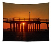 Sunshine At Wildwood Crest Pier Tapestry