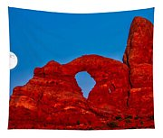 Super Moon Over Arches National Park Tapestry