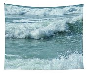 Surf At Duckpool Cornwall Tapestry