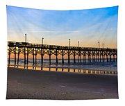 Surf City Fishing Pier Tapestry