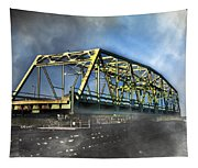 Surf City Nc Swing Bridge Tapestry