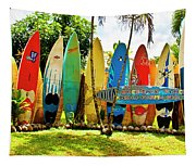 Surfboard Fence II-the Amazing Race Tapestry