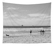 Strollin On Dog Beach Tapestry