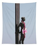 Surfer Statue Tapestry